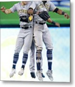Corey Dickerson, Starling Marte, and Gregory Polanco Metal Print