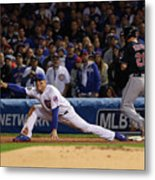 Corey Kluber, Anthony Rizzo, and Kris Bryant Metal Print