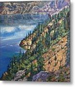 Crater Lake Overlook Metal Print