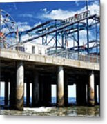 Crazy Mouse on the Steel Pier in Atlantic City Metal Print