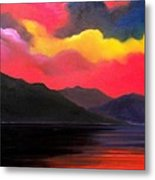 Crimson Clouds Metal Print