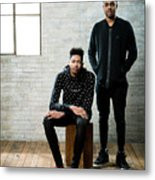 D'angelo Russell and Brandon Ingram Metal Print
