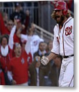 Daniel Murphy and Jayson Werth Metal Print