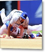 Daniel Murphy And Jimmy Rollins Metal Print