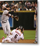 David Peralta and Brandon Crawford Metal Print