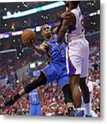 Deandre Jordan and Russell Westbrook Metal Print