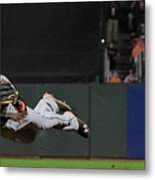 Dee Gordon and Brandon Crawford Metal Print