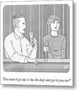 Deep State Dating Metal Print