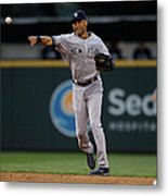 Derek Jeter and Brad Miller Metal Print