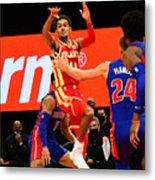 Detroit Pistons v Atlanta Hawks Metal Print
