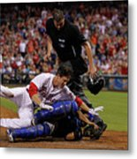Dioner Navarro and Chase Utley Metal Print