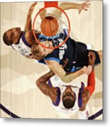 Dirk Nowitzki, Grant Hill, and Amar'e Stoudemire Metal Print
