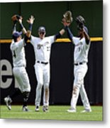 Domingo Santana and Christian Yelich Metal Print