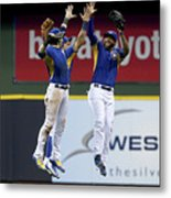 Domingo Santana and Ryan Braun Metal Print