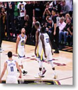 Draymond Green, Stephen Curry, and Kevin Durant Metal Print