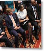 Dutch King And Queen Visit Washington, Attend Global City Team Challenge Event Metal Print
