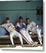 Dwight Gooden, Darryl Strawberry, and Lenny Dykstra Metal Print