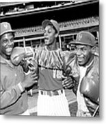 Dwight Gooden, Darryl Strawberry, and Mike Tyson Metal Print
