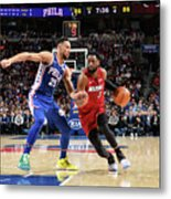Dwyane Wade and Ben Simmons Metal Print