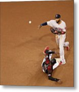 Eduardo Nunez And Adam Jones Metal Print