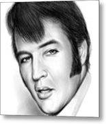 Elvis 3 Metal Print
