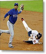 Elvis Andrus and George Springer Metal Print