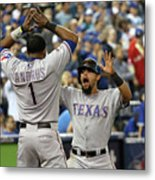 Elvis Andrus and Rougned Odor Metal Print