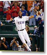 Elvis Andrus and Shin-soo Choo Metal Print