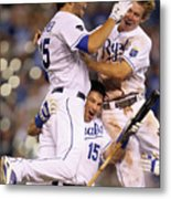 Eric Hosmer, Matt Treanor, and Chris Getz Metal Print