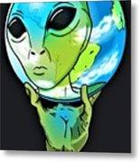 Escher Alien 92 Dot 5 Metal Print