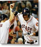 Evan Gattis and Carlos Correa Metal Print
