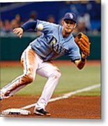 Evan Longoria and Coco Crisp Metal Print