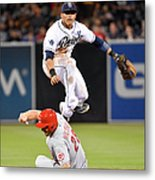 Everth Cabrera and Chris Heisey Metal Print