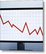 Falling financial graph Metal Print