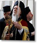 Fener-Greek Patriarch Bartholomew presides mass in Izmir Metal Print