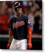 Francisco Lindor and Marco Estrada Metal Print