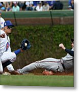 Freddie Freeman and Javier Baez Metal Print