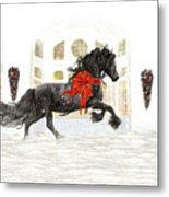 Friesian Christmas Metal Print