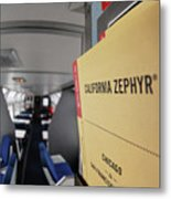 From Chicago To San Francisco -- Timetable In The Lounge Car On The Amtrak California Zephyr Metal Print