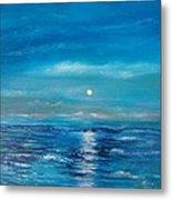 Full Moon Seascape Metal Print