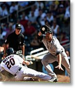 Garrett Jones and Eddie Rosario Metal Print