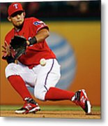 George Springer and Rougned Odor Metal Print