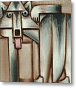 Gray Wolf With Tongue Hanging Out Art Print Metal Print