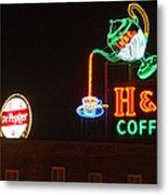 H and C Coffee Sign Roanoke Virginia Metal Print