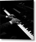 Hands Playing The Piano Metal Print