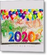 Happy 2020 Metal Print