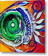 Happy Fish Compliments Transcending Time Metal Print