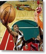 Hersey Hawkins and Scottie Pippen Metal Print