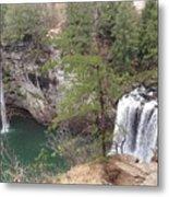High Angle View Of Fall Creek Falls Metal Print