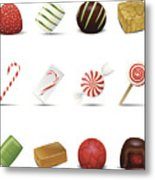 Holiday Candy Icons Metal Print